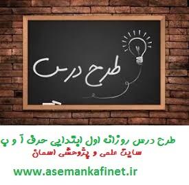 29 - طرح درس روزانه اول ابتدایی حرف (آ –ا) (بـ – ب)