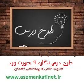 66 - طرح درس روزانه فارسی اول ابتدایی نگاره نه مسجد