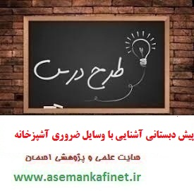 836 - طرح درس آموزش مهارت های زندگی و اجتماعی پیش دبستانی آشنایی با وسایل ضروری آشپزخانه