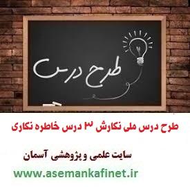 1966- طرح درس روزانه ملی فارسی و نگارش 3 دوازدهم درس خاطره نگاری